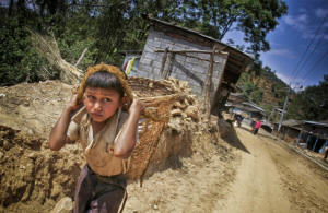 A young boy works as a laborer near Kathmandu. Photo: David Longstreath/IRIN