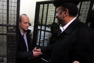 A photo from March 2012 shows Robert Becker of the National Democratic Institute, who has been given a two-year sentence