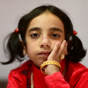 Photo of Dania Amroosh, 7-year-old Syrian refugee.