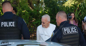 Fort Lauderdale police arresting 90-year-old man for feeding homeless people. Photo: NBC