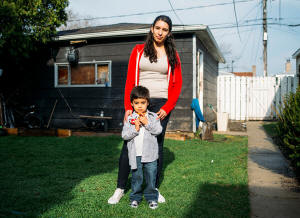 Adriana Avarez with her son Manny. Photo: David Kasnic/The New York Times