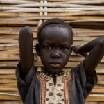 A child in South Sudan where conflict has dramatically worsened food insecurity. ©UNPhoto/JCMcIlwaine