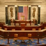 Rostrum in House chamber.