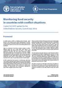 Cover: Monitoring food security in countries with conflict situations