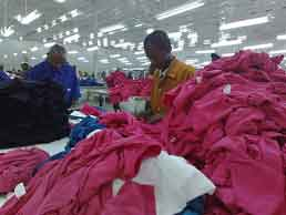 Tanzania garment factory (March 6, 2009). Photo: BBC World Service