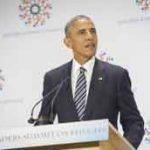United States President Barack Obama addresses the High-level Leaders' Summit on Refugees. Photo: UN Photo/Rick Bajornas.