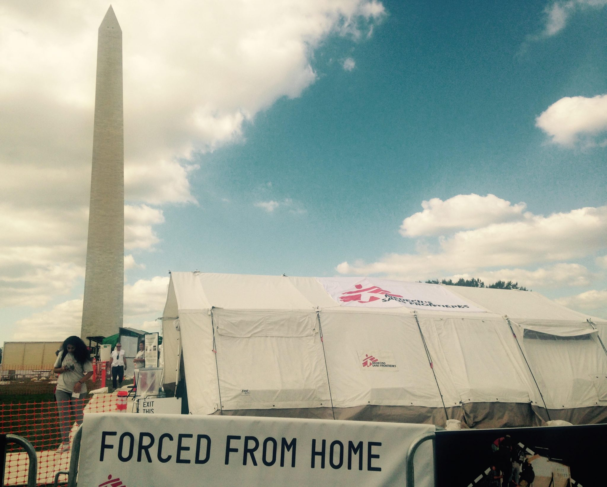 A miniature mock refugee camp has been set up to raise awareness about refugee issues. Photo: Hunger Notes