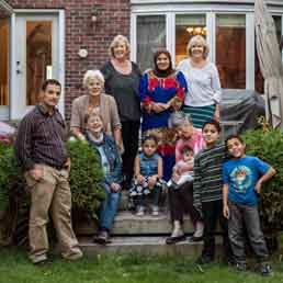 In Toronto, Mouhamad al-Hajj and his family, refugees from Syria, have resettled with the help of a group of sponsors. Photo: © Nicole Tung for The New York Times