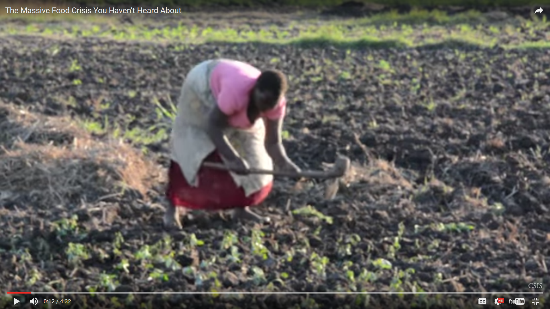 Woman farming.