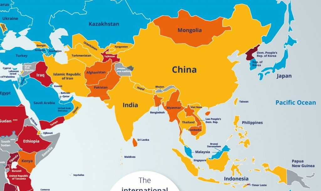 Location Of Asia In World Map.Asia Hunger Facts Facts About Hunger In Asia World Hunger News
